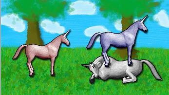 """Charlie the Unicorn - It's a picture of Charlie the Unicorn, a video series made by Jason Steele (SecretAgentBob) / FilmCow. Charlie the Unicorn is famous on YouTube, Newgrounds, and even on FilmCow's website. The video is about three unicorns going to """"Candy Mountain,"""" a fictional mountain made out of candy, only for Charlie to get his kidney taken out."""