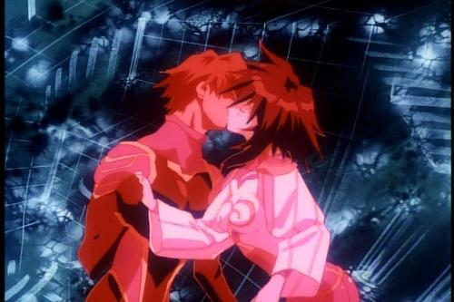 Gene Starwind and Melfina - Characters from the anime outlaw star in cyberspace.