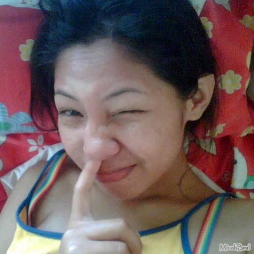 Cleaning my nose! lol - I got the fun to shot my self while cleaning my nose trill using my pointer finger. Hehehe gross!