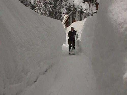 shoveling - too much snow