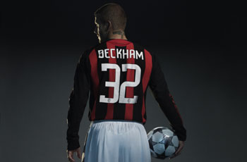 David Backham in Milan - he is wearing number 32 now.. hope will be a good signing for milan.