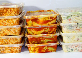 stored food - pre-made meals stored in the ref