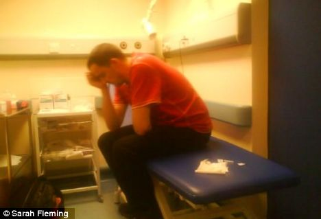 The Deceased Stewart Flemming - Stewart Fleming pictured by his wife three hours into his six-hour wait at Medway Maritime Hospital