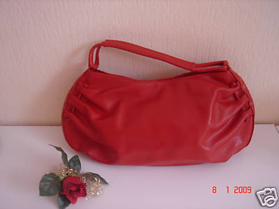 red benetton bag - from ebay auction.