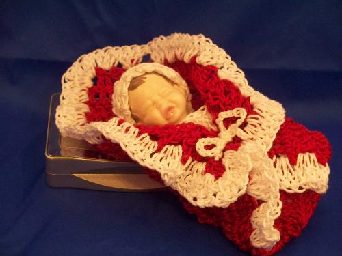 Baby nicki - Nicki is a bundle baby She is hand crocheted and ceramic.