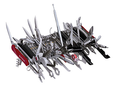 Giant Swiss Knife - Whew! i bet 2/3 of them are useless.