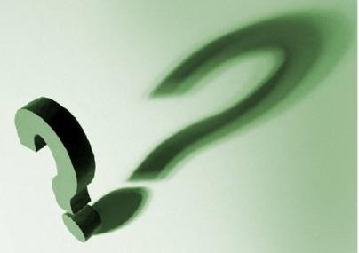 the question mark - are there any questions?