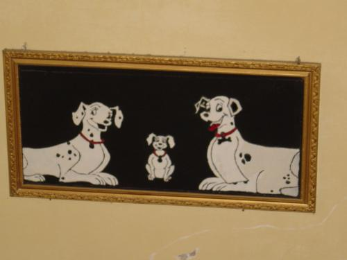 Happy Family - Dalmation Momma, Daddy and the little one