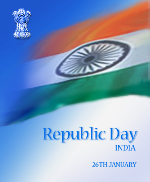 Republic day - India became a republic on 26 January 1950.