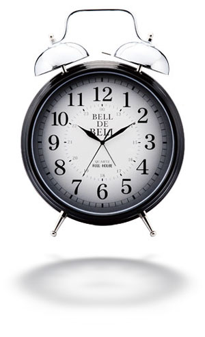 Alarm clock - Alarm clock is a good thing to wake people up early in the morning. Usually you set up the alarm clock before going to bed and in your dreams wait till it's starting to play sounds which means, you have to wake up.