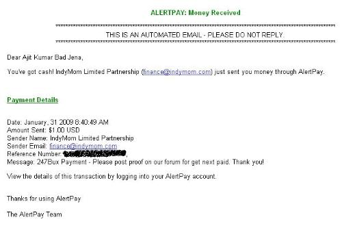247bux payment proof - My payment proof from 247bux