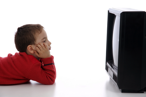 Tv - Kid watching tv