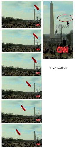 CNN Catches UFO on Camera during BARACK OBAMA inau - BARACK OBAMA inauguration