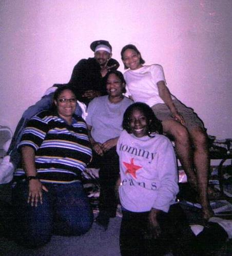 My Mom and her four kids - This is a picture of my mom (Center), and her four kids. Me (Lower right) My sister under me(lower left) My Brother (upper left, as if you didn't know lol), and my baby sister (upper right)