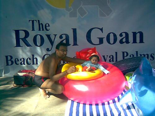 Photo from Goa - This is a photo when we visited Goa last time. My husband and our younger daughter.