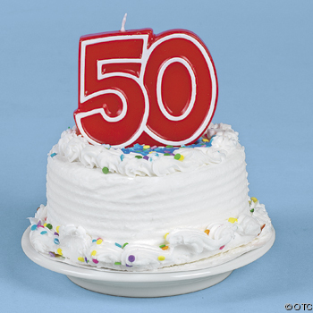Do you like it when people ask your age? - Photo showing a birthday cake for a 50 yr old.