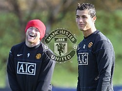 Manchester United - Two MU's world star player, Rooney and Ronaldo