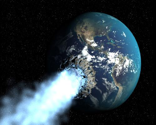 end of the world - well, it seems like some kind of astroid comes and collides with the earth which will trigger the extinction of life on earth as we know it.
