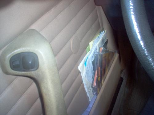 Accidental photo - Car interior; detail on driver door.