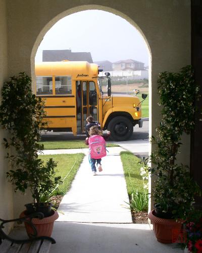First day of School - Just want to share excitement of first day in school.
