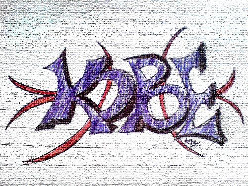 This is a hand made graffiti on paper - THIS IS MADE BY ME IN CLASS WHEN I WAS BORED.dO YOU LIKE IT ?