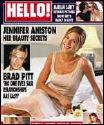 hello magazine - shows the cover of a certain issue of the britain based celebrity magazine, hello.