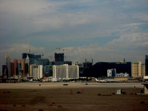 Las Vegas - View of Las Vegas from my airplane seat.