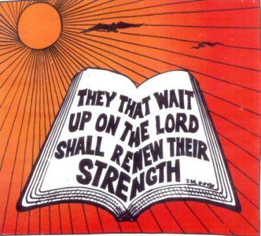 Wait..... - we all want fast results and what we forget is to wait upon the lord....and he always does wonders........praise god !!!!
