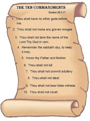 The Ten Commandments - The Ten Commandments were given to Moses. It is mentioned in the bible..... Exodus:20 1-17