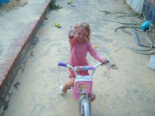 Caitlin turns five - Caitlin and her new bike