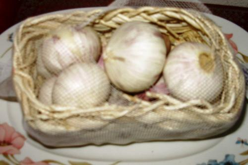 Chinese garlic - This variety has no individual cloves and is much easier to use than the conventional type.