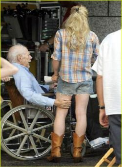 Creepy Old Man - Old men hitting on young girls.