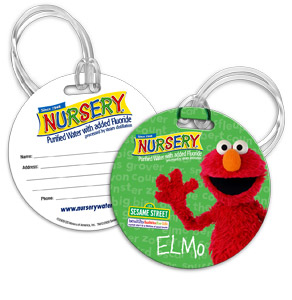 Elmo Bag Tag - Add this to your diaper bag so that you never have to worry about it being lost amongst other similar looking bags at your nursery or day care facility.