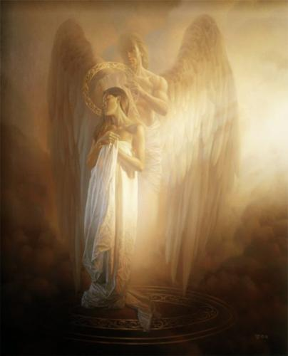 Angel - The angel and the surrounding aura