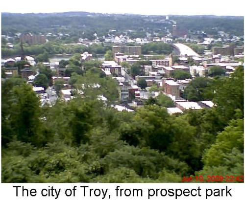 Over looking Troy NY - This is a pic of my city.