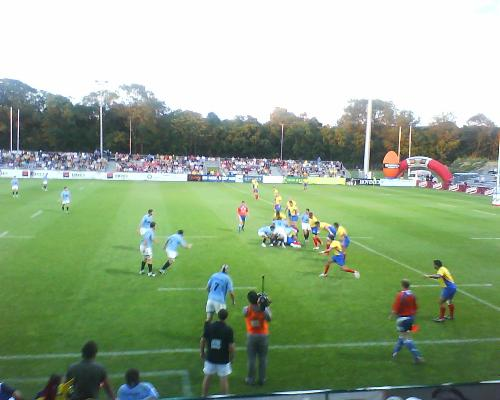 Uruguay - Romania - A picture I took during the 2009 IRB Nations Cup game between Uruguay and Romania.