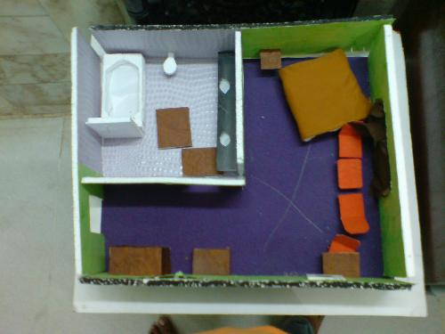 this my room model - this is how my model looked...it took me 3 months to make this model......