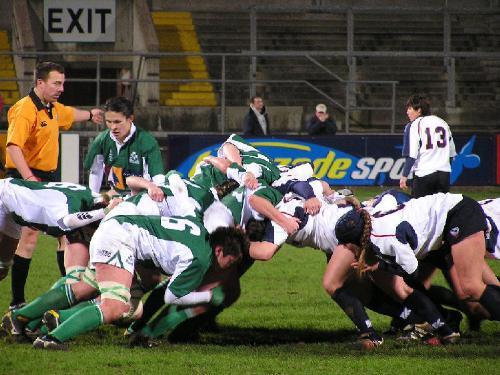 Rugby - a Rugby scrum