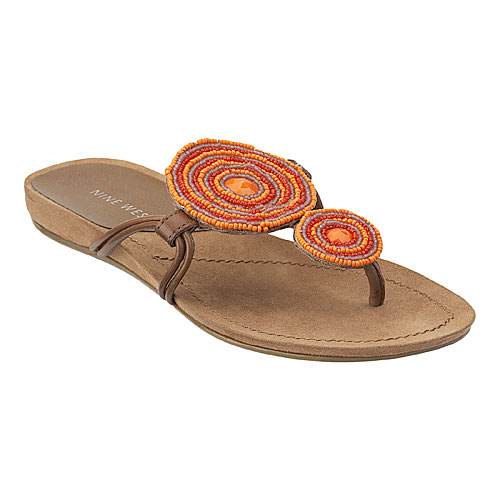 orange color - orange sandals
