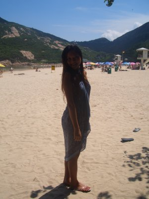 It's me ^_^ - It is a piece of big cloth actually, but I can make it a dress to go to the beach.
