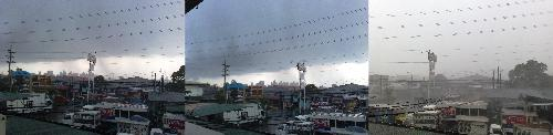 Weather - Sunny turned stormy weather.