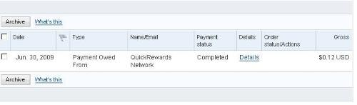payment proof - Quickrewards Payment Proof