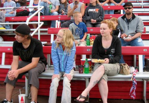 A freind and her family - Bumped into them at the races on the 4th of July in Elko Minnesota.