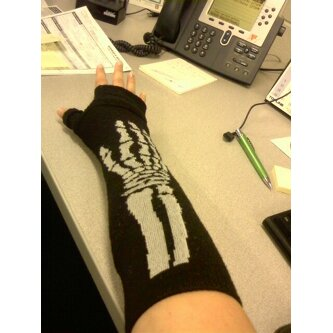Arm - My arm wrapped in a bandage/cast, and then an old Halloween arm warmer.