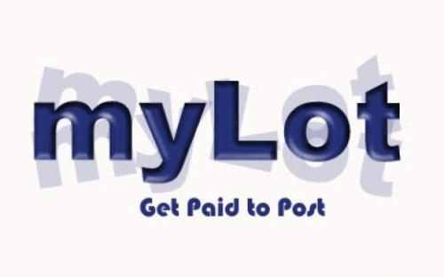 "my lot background - my lot logo and text ""get paid to post"""
