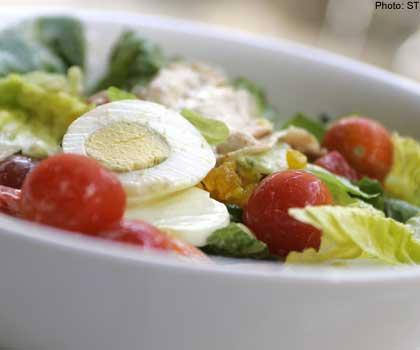 taste Vs heath - a salad