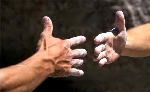 helping hands - reaching out for help in todays world.