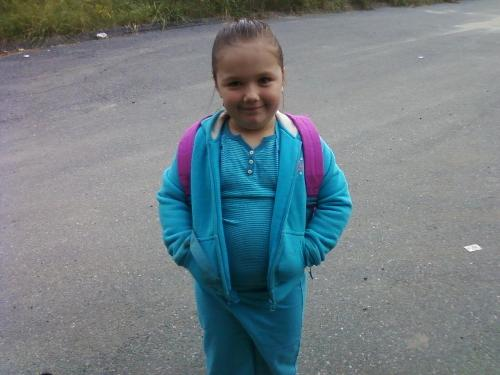 My oldest daughter - My oldest daughters first day of Kindergarden.