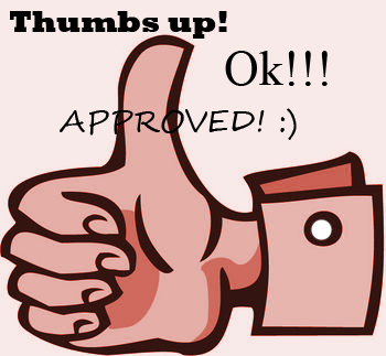 Thumbs up! - Okay, Approved, Thumbs up icon.