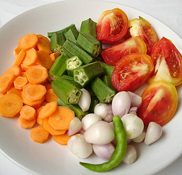 Vegetables - Different colours of vegetables have different vitamins and proteins